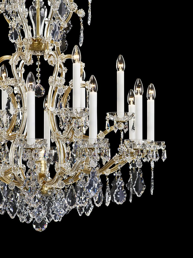Maria Theresa. An iconic crystal arm chandelier, whose sophisticated brilliance illuminated the coronation of Maria Theresa to Queen of Bohemia in 1743, who is said to have fallen in love only twice - with her husband Francis I and with this very chandelier that bears her name and adorns locations like the Prague Castle or the Schönbrunn Palace in Vienna. #design #crystal #lighting #chandelier #bohemiancrystal #interior #brilliance #craftsmanship #preciosalighting #flagshipstore