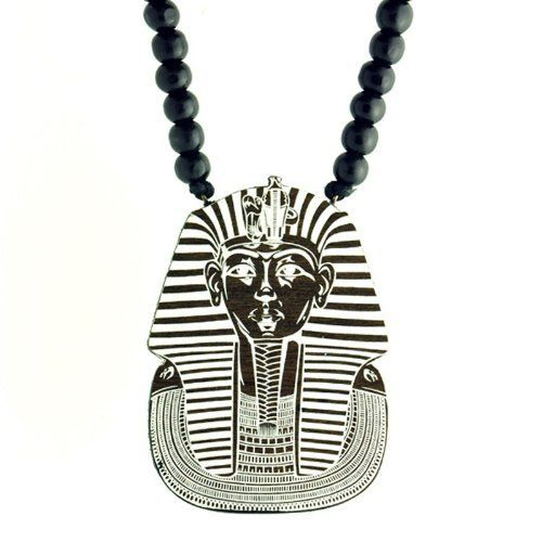 Swaggwood Wooden King Tut Pendant Natural Beaded Necklace Made in the USA Swaggwood. $24.99. Stylish. Made in the USA. Natural. Unique. Wooden