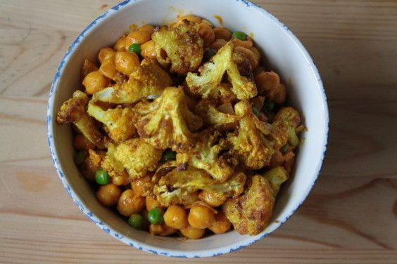 Curried Cauliflower and Chickpeas - The Vegan Pact-Healthy & Delicious ...