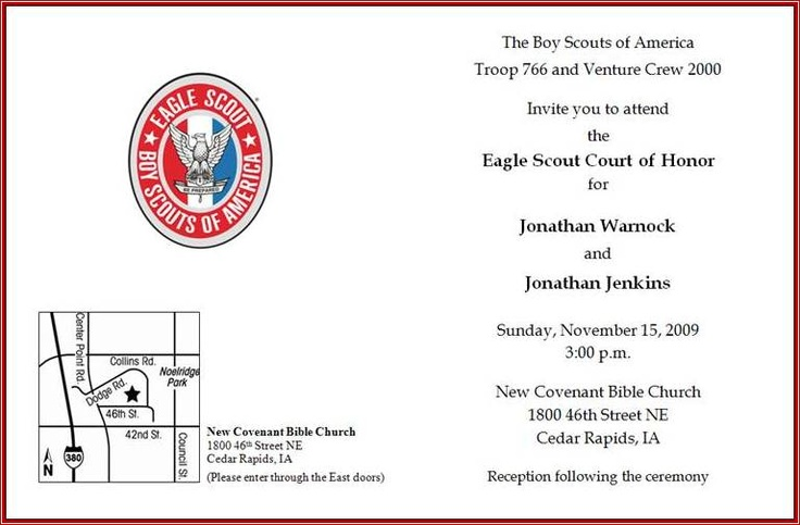 68 best scouts eagle scout invitations images on for Eagle scout court of honor program template