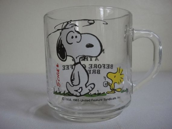 Vintage Snoopy Mug 1965 Coffee Break by alltheseprettythings, £12.50