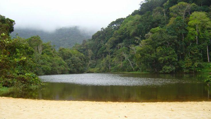 Prumirim beach and river near Ubatuba / Pobřeží státu São Paulo alias litoral paulista, pláž Prumirim na sever od Ubatuby