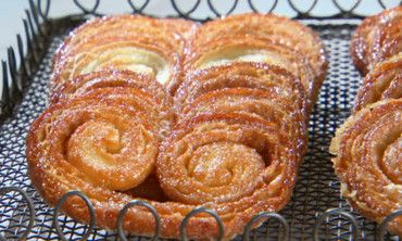 Also known as elephant ears, these glistening, caramelized cookies have a satisfying crunch.