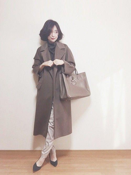 大好きFigaroのモカ色チェスター♡♡ これ以上の一着に未だ出会えない チャコールグレー・グレージ