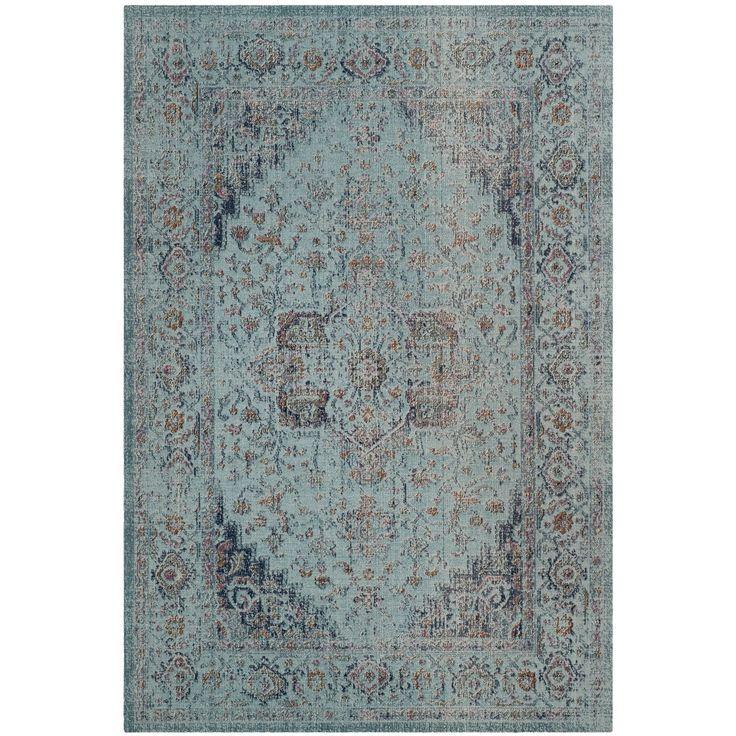 Teppich Ambrosine - Mischgewebe - Hellblau - 154 x 228 cm, Safavieh