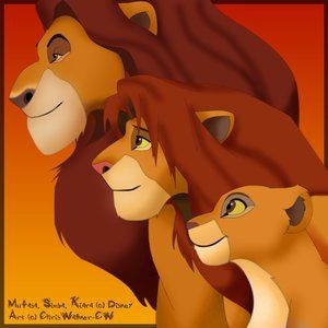 Mufasa, Simba, and Kiara<3