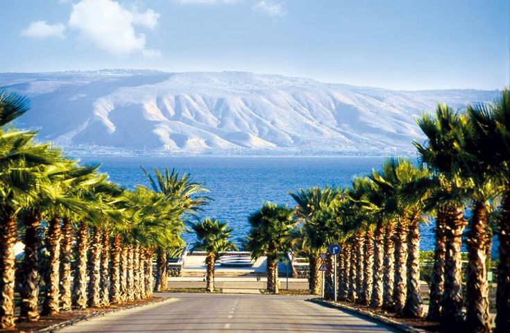 Sea of Galilee, AKA Lake Gennesaret, the largest freshwater lake in Israel.