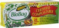 Biobag Biodegradable 3-Gallon Composting Bags / Package of 25 by BioBag. $6.95. Twenty-five 3 gallon Compost Biobags.. High quality compost is achieved through proper pre-sorting of food waste, and it all starts in the kitchen! The highly breathable and compostable Bio-Bag combined with the Max-Air ventilating bin (our # MACP), makes food waste easy and hygienic for households. The ventilation ensures good air flow so that the waste dries out reducing rot, mold, and unp...