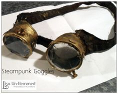 Steampunk goggles from toilet paper rolls. So cheap, so awesome!