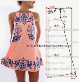 Love this simple dress!! (Moldes Moda por Medida: VESTIDO FÁCIL DE FAZER - 3)