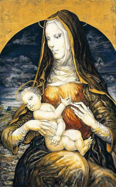 Léonard Tsuguharu Foujita (1886 – 1968, Japanese) - Madonna