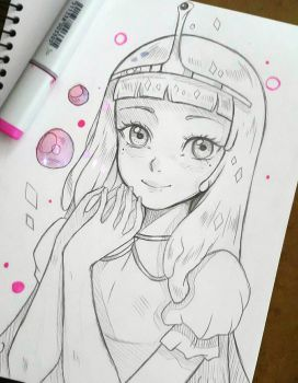 +Princess Bubblegum+ by larienne