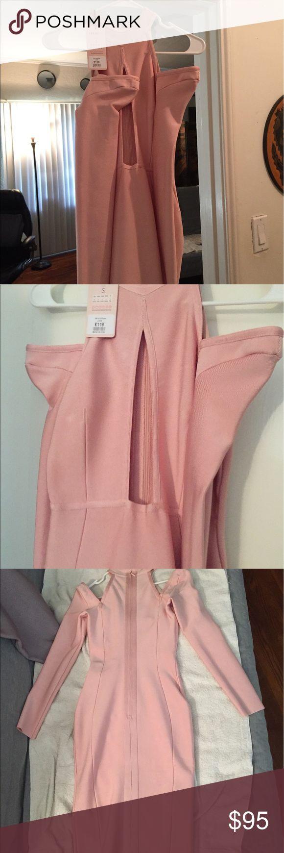 Pink Bandage Dress Pink bandage dress, Long sleeves,Hi neck, teaser front. House of CB Dresses Long Sleeve