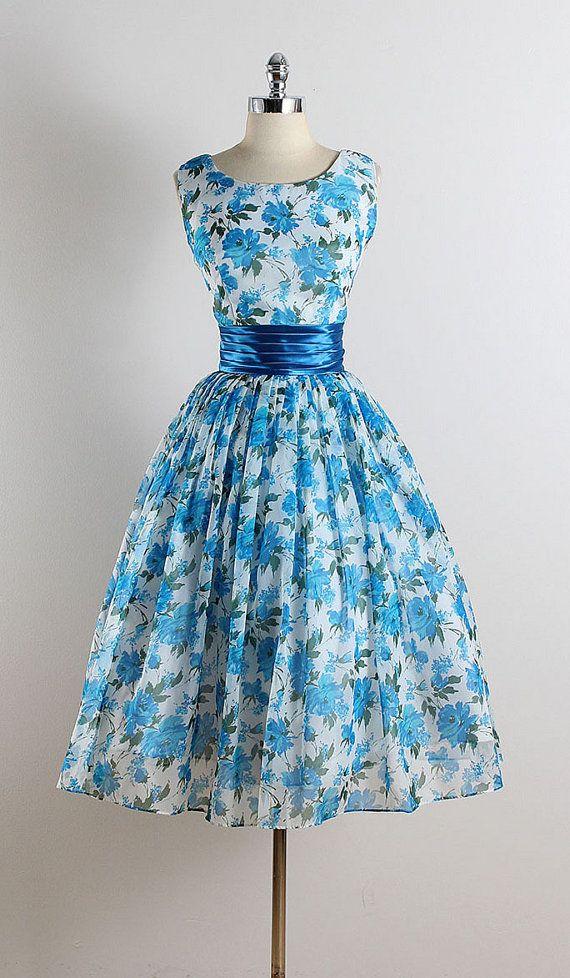 Reserved /// Vintage 50s dress 1950s vintage by millstreetvintage