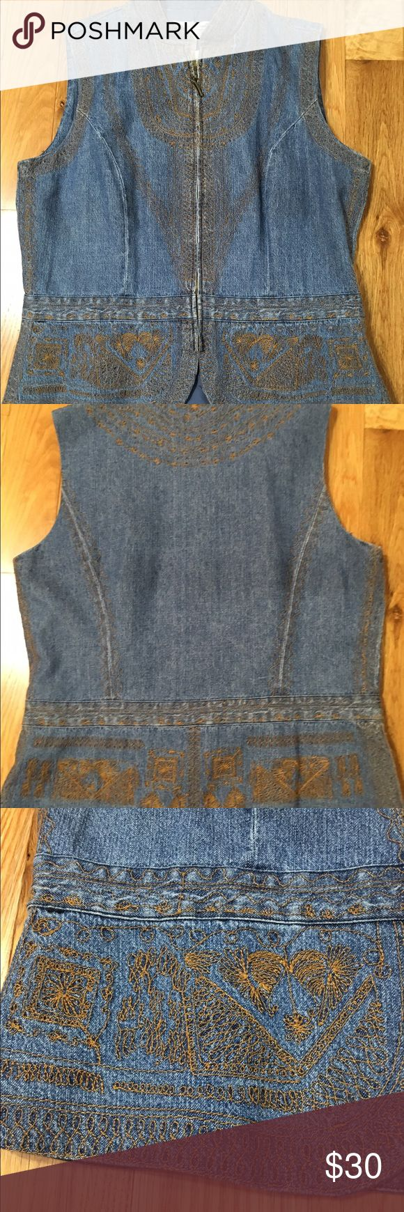 "Coldwater Creek Denim Vest This is a NWT Coldwater Creek ""Elegence"" Denim Vest .  This is a beautiful vest with detailed embroidery . Coldwater Creek Jackets & Coats Vests"