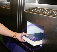 Borrowing from Book Deposit Machine, at UQ Library