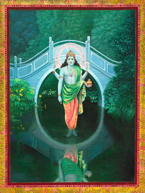 Hindu god of Medicine Dhanvantari by Paul Heussenstamm