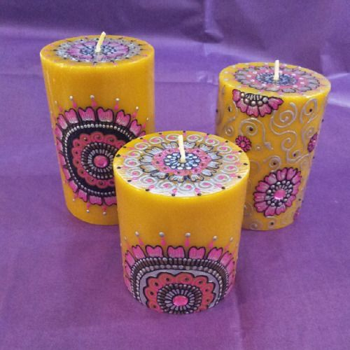 NEW decorarive candles by new supplier Zara's Mehndi & Gifts are beautiful! #Huddersfield