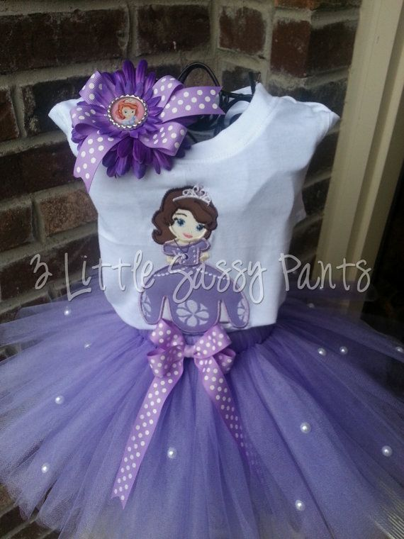 princess sophia the first birthday party | Princess Sophia the First Tutu Set- Embroidered Shirt, Tutu, and ...