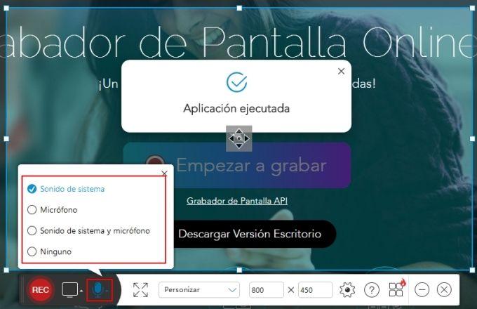 Grabador de Pantalla Online Gratis
