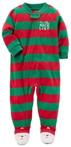dea70038ee33 Carter s Infant Boys Stripe Fleece On The Nice List Christmas ...