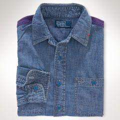 Chambray Jacquard Work Shirt - Polo Ralph Lauren Sale - RalphLauren.com