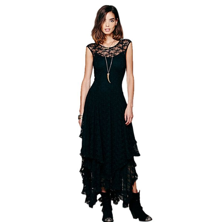 Gypsy Fashion Bohemian Style Long Sexy Lace Dress for Summer – Boho Marché