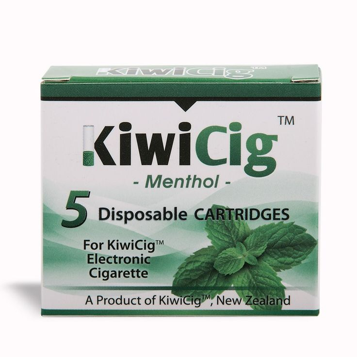 KiwiCig™ cartridges: MENTHOL: Yellow Colour - Kiwicig - Products - KiwiCig NZ