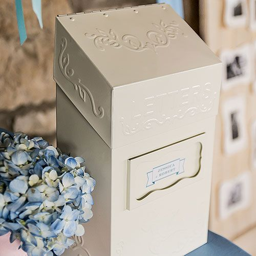 This Antique Style Letter Box Is Such A Unique Guest Book Alternative From Its