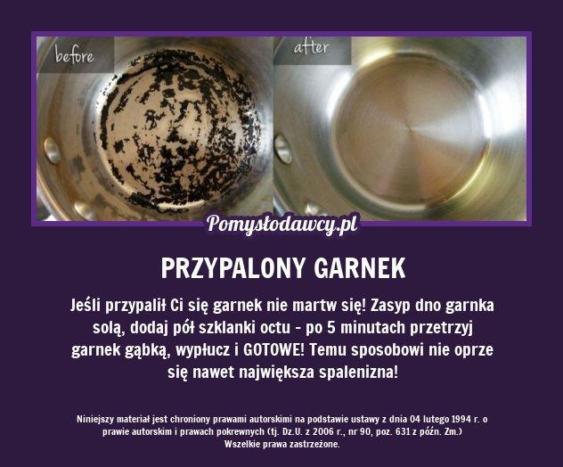 SUPER TRIK NA NAWET NAJBARDZIEJ PRZYPALONY GARNEK! - Po… na Stylowi.pl