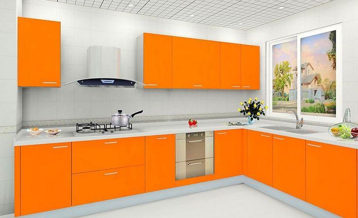 cucine-moderne-ad-angolo-mobili-arancioni-laccati