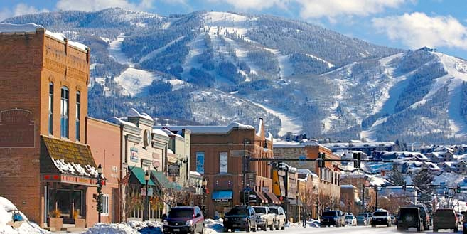 Downtown Steamboat Springs Blanketed In Its Winter Coat