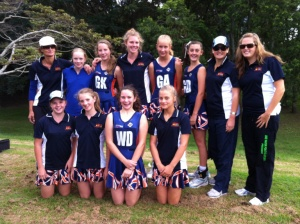 Armidales Under 13's just before their first game at the Grafton Carnival March 2012