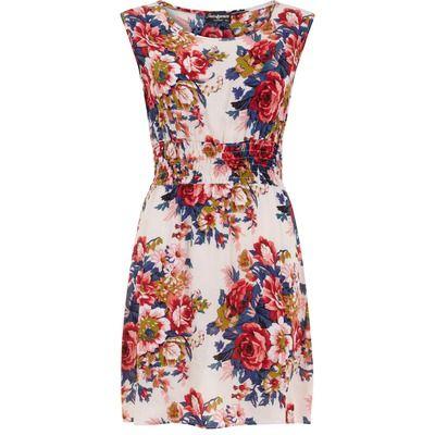 Dorothy Perkins Indulgence Pink Rose Print Summer Dress