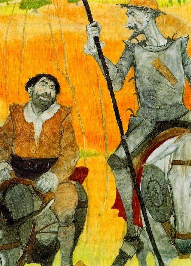 Abril, mes del libro: cabalgamos a lomos Rocinante, con don Quijote de la Mancha, el más universal de nuestros personajes literarios, acompañado de su fiel Sancho Panza (ilustración de Svetlin Vassilev)