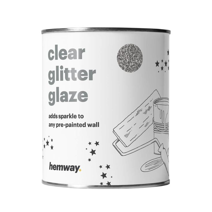 Are your walls lacking that special something? Simple & easy to use, add a clear glitter paint glaze top coat to your pre-painted walls.