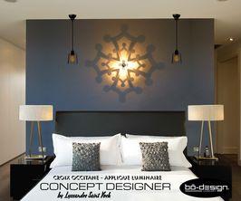luminaire design concept innovant avec ombre portée au mur - modele croix occitane
