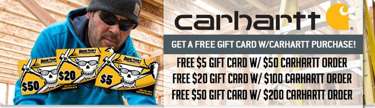 THIS DEAL HAS EXPIRED!   #Carhartt #FreeGiftCard #Free #GiftCard #WorkingPerson #Clothing #WorkingWear #Sale #CarharttClothing