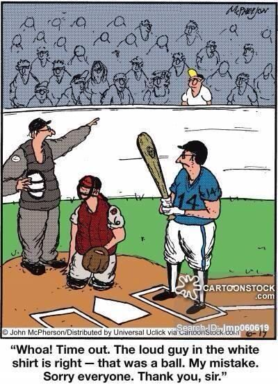 Haha..reminds me of guy in a white shirt that always yelled 'Ball'!! At the Rays games