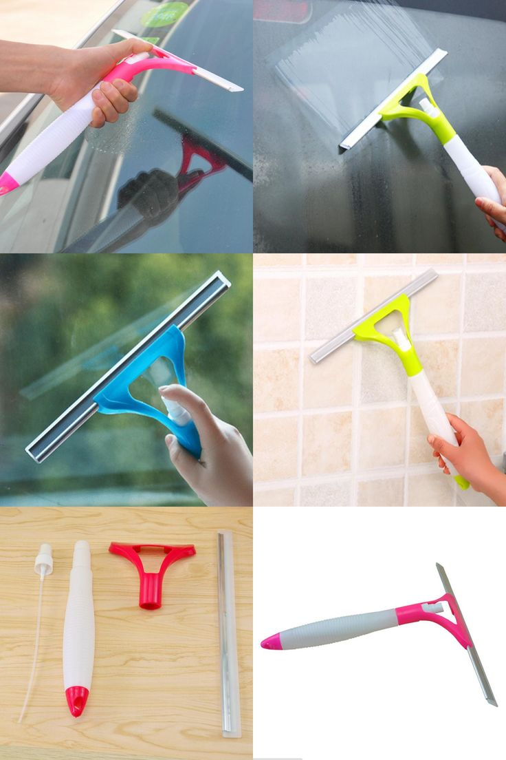 [Visit to Buy] Multi-purpose Integral Type Spray Cleaning Brush Window Glass Wiper Clean Shave Car Window Cleaner Tiled Floor Wiper Scraper #Advertisement