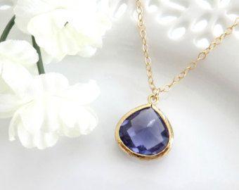 Purple Pendant Necklace, Purple Pendant, Valentines Day, Bridesmaid Necklace, Gift for Best Friend