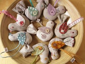 PatchworkPottery: Bird Ornaments