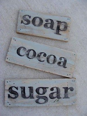 Instructions for DIY Vintage Looking Painted Signs on old salvaged scrap wood!