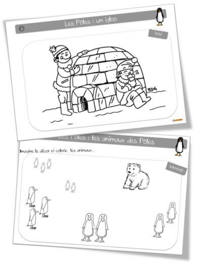 Coloriages : les pôles