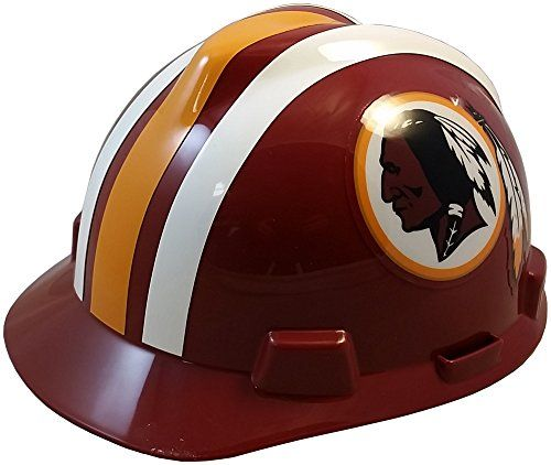 NFL Team Safety Helmets with One Hand Adjustable Suspension Suspension - Washington Redskins  http://allstarsportsfan.com/product/nfl-team-safety-helmets-with-one-hand-adjustable-suspension-suspension/?attribute_pa_color=washington-redskins  Great way to show your team spirit for your favorite NFL team Perfect to wear on the job or at the game Makes a great gift for any football fan