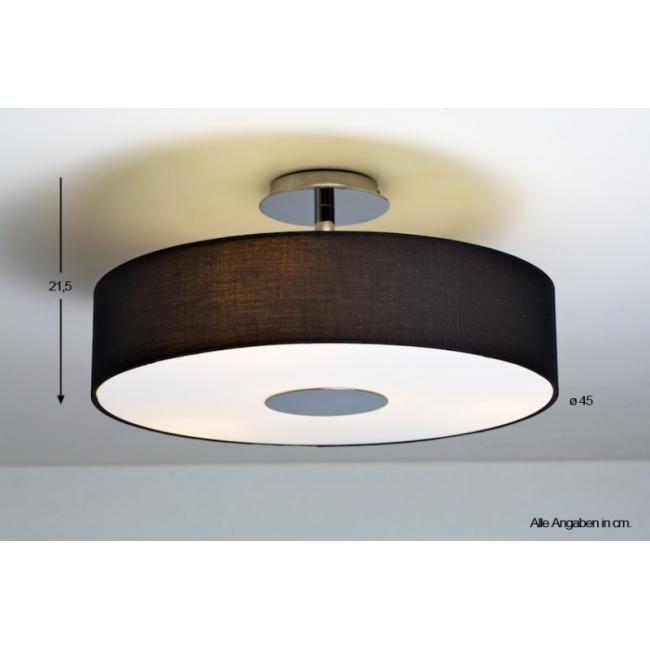 Erleben Sie die vielfältige Lichtwelt der Marke Philips. Die Deckenleuchte Flora verfügt über einen schwarzen runden Stoffschirm und ein Gestell aus gebürstetem Stahl. Ihr weiches Licht zaubert bei Ihnen eine Wohlfühlatmosphäre. Das Leuchtmittel wird von einem matten Glas verdeckt, so dass das heraustretende Licht auf angenehme Weise gedämpft wird. Durch diese Lichtatmosphäre wird Ihr Esszimmer oder andere Innenräume viel höher und großzügiger wirken.Fassung / Leuchtmittel:1 x E14 60 Watt…