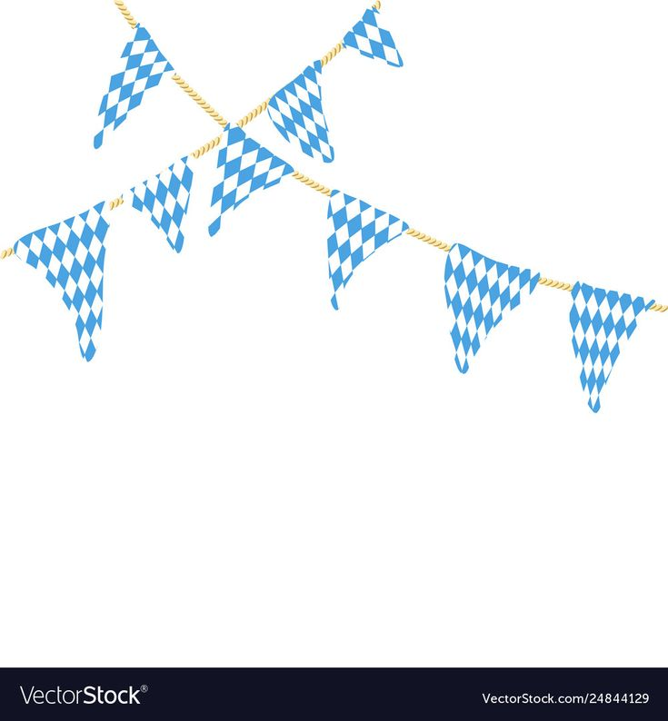 Two string with oktoberfest flags Royalty Free Vector Image
