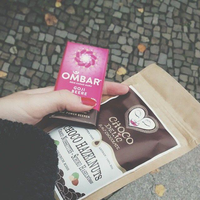 Chocodelic and Ombar raw chocolates.