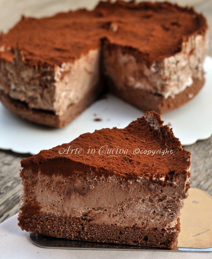 Torta africana con mousse nutella di ernest knam ricetta vickyart arte in cucina