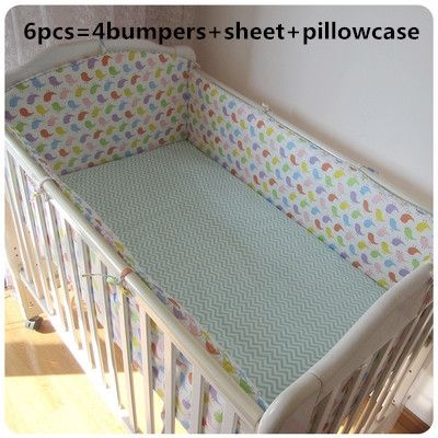 42.80$  Watch here - http://ali80n.worldwells.pw/go.php?t=32757910995 - Promotion! 6pcs Cot Baby Bedding Set Blue Crib Newborn Baby Mickey Linens Girls Boys ,include(bumpers+sheet+pillow cover)
